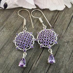 Jewelry - African amethyst sterling silver Earrings